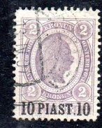 XP1572 - UFFICI POSTALI NEL LEVANTE 1900, Cat. Unificato N. 37 Usato - Eastern Austria