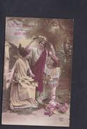 Cachet Militaire G.V.C. Poste  Saint Remy ( GVC Garde Voies Communications) CPA Fantaisie Jeune Femme Fillette Couronne - Marcophilie (Lettres)