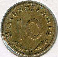 Allemagne Germany 10 Reichspfennig 1938 E J 364 KM 92