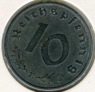 Allemagne Germany 10 Reichspfennig 1941 E J 371 KM 101