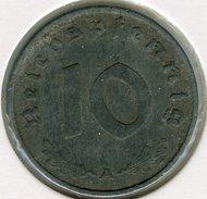Allemagne Germany 10 Reichspfennig 1942 A J 371 KM 101