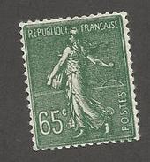 FRANCE - N°YT 234 NEUF* AVEC CHARNIERE - COTE YT : 8€ - 1927/31 - 1903-60 Semeuse Lignée