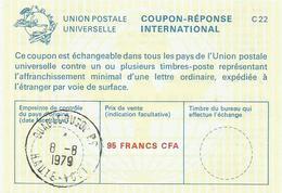Haute Volta 1979 Ouagadougou Reply Coupon Reponse Type C22 IRC IAS 95 FCFA - Opper-Volta (1958-1984)