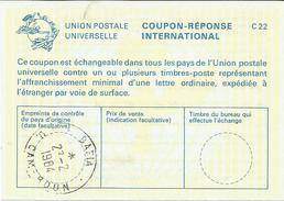 Cameroun Cameroon 1984 Bafia Reply Coupon Reponse Type C22 IRC IAS - Kameroen (1960-...)