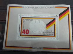 BF Neuf Allemagne RFA 1974 : 25 Ans De La République Fédérale Allemande - Blocs