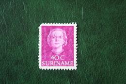 Koningin Juliana 40 Ct NVPH 292 1951 Used / Gestempeld SURINAME / SURINAM - Surinam ... - 1975