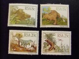 AFRIQUE DU SUD SOUTH AFRICA AFRICA Del SUR  RSA 1982 Animales Prehistoricos Yvert Nº 527 / 30 ** MNH - África Del Sur (1961-...)