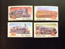 AFRIQUE DU SUD SOUTH AFRICA AFRICA Del SUR  RSA 1983 Locomotoras A Vapor Yvert Nº 535 / 38 ** MNH - África Del Sur (1961-...)