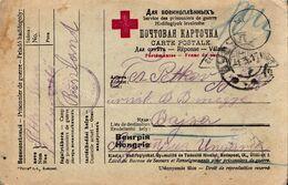 WWI , PRISONER OF WAR, RUSSIA,RED CROSS,3 CENSOR MARKS