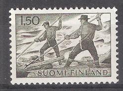 FINLAND / Finlande 1960,Série Courante, Flottage Du Bois Yvert 546 , Neuf ** / MNH  TB