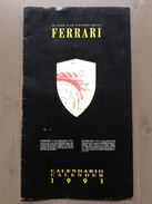 Calendario Da Collezione Ferrari 1991 Con Custodia Esterna - Calendari