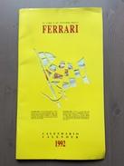 Calendario Da Collezione Ferrari 1992 Con Custodia Esterna - Calendari
