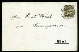 A4429) Schweiz Dekorative Einladungsdrucksache-Karte Von Biel 25.4.1903 - 1882-1906 Wappen, Stehende Helvetia & UPU