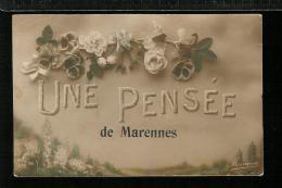 Une Pensée De MARENNES - Carte Fantaisie Roses - Marennes