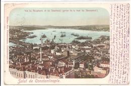 TURQUIE - Salut De Constantinople - Vue Du Bosphore Et De Stamboul - 1902 - Turquie