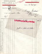 75- PARIS - FACTURE PAUL LEVY - DRAPERIES DOUBLURES-48 RUE CROIX PETITS CHAMPS- 1935 - P - 1900 – 1949
