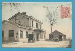 CPA Chemin De Fer La Gare DAMERY 51 - Andere Gemeenten