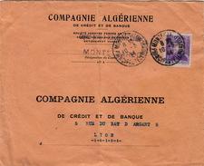 MONACO - LETTRE MONTE CARLO POUR LYON 10.5.44 - COMPAGNIE ALGERIENNE DE CREDIT ET DE BANQUE - Monaco
