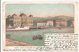 CROATIE - FIUME. Porto E Via Del Lido. 1902 - Croatia