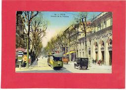 NICE AVENUE DE LA VICTOIRE TRAMWAY BANQUE SOCIETE GENERALE CARTE EN TRES BON ETAT - Bauwerke, Gebäude
