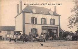 10 - AUBE / Ervy Le Chatel - Devanture Café De La Gare - Superbe Cliché Animé - Ervy-le-Chatel