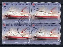 CROATIA 1998 Ships 7.20 K. Used Block Of 4.  Michel 480 - Croatia