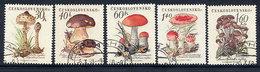 CZECHOSLOVAKIA 1958 Fungi Set Used.  Michel  1101-05 - Czechoslovakia