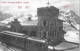GORNERGRAT → Station Gornergrat, Bahnhof Mit Zug, Alter Lichtdruck Ca.1900 - VS Valais