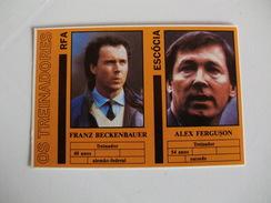Football Futebol World Cup México 86 Scotland And Germany Coaches Portugal Portuguese Pocket Calendar 1986 - Calendriers