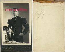 CDV Soldat L. BAYLE Du 44e Régiment En 1913-photographe Sabot à Montbéliard - War, Military