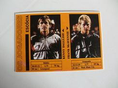 Football Futebol World Cup México 86 Scotland Kenny Dalglish Frank McAvennie Portugal Portuguese Pocket Calendar 1986 - Calendriers