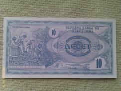 Billete Macedonia. 10 D. 1992. - Macedonia