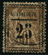 GUADELOUPE - YT 9 - SURCHARGE TYPE I - CENTIMES 10,5 Mm - TIMBRE OBLITERE - Guadalupe (1884-1947)