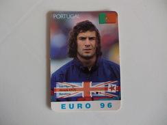 Euro Cup Football 96 Luis Figo Portugal Portuguese Pocket Calendar 1996 - Calendriers