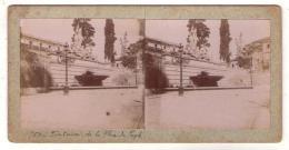 Stéréo 148, Italie Rome, Fontaine De La Place Du Peuple - Fotos Estereoscópicas