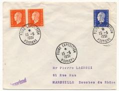 """FRANCE => Env Scotem - Cachet Temporaire """"Foire Exposition"""" POITIERS - 15/05/1951 - Marcophilie (Lettres)"""