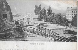 VERNAYAZ ET LE TUNNEL → Alte Und Seltene Karte, Lichtdruck Ca.1900 - VS Wallis