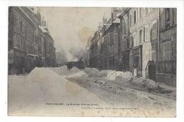 16191 - Pontarlier La Grande-Rue En Hiver - Pontarlier