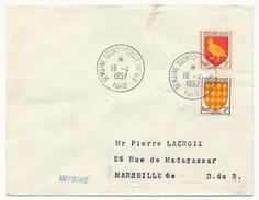 """FRANCE => Env Scotem - Cachet Temporaire """"Semaine Odontologique Internationale"""" PARIS - 19/04/1957 - Marcophilie (Lettres)"""