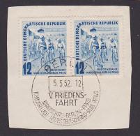 DDR Friedensfahrt 1952 Sonderst. Berlin Auf Briefstück Warschau - Berlin - Prag - [6] República Democrática