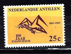 ANTILLES NEERLANDAISES  321** 25c Jaune Et Violet-brun Centenaire De L´abolition De L´esclavage - Antillen