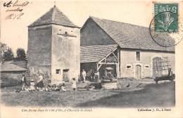 21 - COTE D'OR / Chazilly Le Haut - Une Ferme - Pigeonnier - Beau Cliché Animé - Other Municipalities