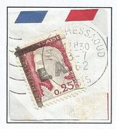 ALGERIE N° 355 VARIETEE DE SURCHARGE  CACHET HASSI-MESSAOUD / OASIS - Algérie (1924-1962)