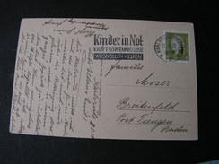Karlsruhe , Kinder In Not Webestempel  1932  Werdepalais - Karlsruhe