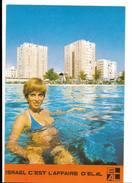Femme En Maillot De Bain - Pin Up - Elal Lignes Aériennes - Tel Aviv Istrael  Carte Postale Publicité Avion Tourisme - Pin-Ups