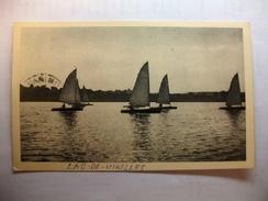 Carte Postale Belgique Chimay Lac De Virelles Passge Des Voiliers  (Petit Format  Oblitérée + Timbre  ) - Chimay