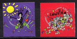 France 2010.Adhésif Saint Valentin Coeurs 2010 De La Maison  De Couture Lanvin ** - France