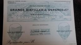 CARTON PUBLICITAIRE VAUVERT GARD GRANDE DISTILLERIE VERGNES   PAS CP - France