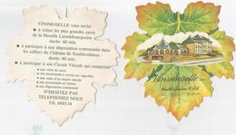 Lot De Deux Feuilles De Vignes En Papier. Vinsmoselle à Stadtbredimus, Grand-Duché De Luxembourg. - Publicidad