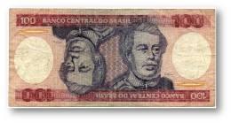 BRASIL - 100 CRUZEIROS - ND ( 1984 ) - P 198.b - Serie 7743 - Sign. 21 - Prefix A - Duque De Caxias - Brazil